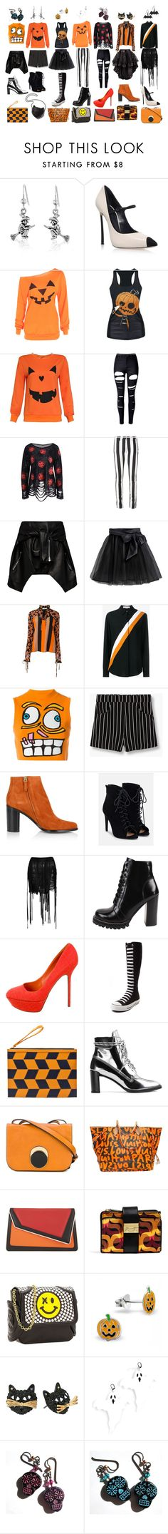 """""""560"""" by violetwednesday ❤ liked on Polyvore featuring Casadei, WithChic, Off-White, Magda Butrym, Little Wardrobe London, MSGM, STELLA McCARTNEY, Jeremy Scott, MANGO and Chloé"""