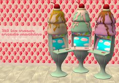 As requested, here is the TS3 Katy Perry's Sweet Treats ice cream arcade machine. I take no credits from extracting the objects from the original game. • Deco item, 175§ • Found under Decorative > Sculpture • File is compressed • Family Fun pack...
