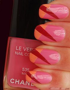 Brilliant Nail, 3/27/12: Color Blocking with Chanel 533 April, 535 May & 539 June