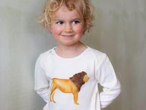 Kinder Bio Langarmshirt (GOTS) Löwe