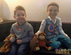 Baker creates 28-pound, life-size model cake of 4-year-old for his birthday Alfie Rose has met his a cake clone! British baker Lara Clarke created the incredible piece of confectionary using 12 tiers of sponge coated with chocolate and buttercream icing, before finishing it off with edible food coloring.