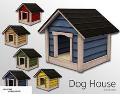 DOG HOUSE DECO at Leo Sims via Sims 4 Updates