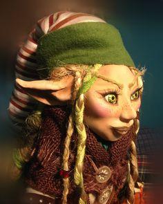 Duende de Octubre Winter Hats, Princess Zelda, Fictional Characters, Art, Elves, Fantasy Characters, October, Woods, Hand Made