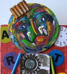BOGO+SALERecycled+Art+Collage++++++++He+wasn't+sure+by+redhardwick,+$30.00