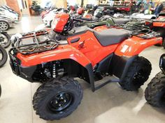 New 2016 Honda FourTrax® Foreman® Rubicon® 4x4 EPS ATVs For Sale in Minnesota. Engineered for comfort and confidence — all day long. Nobody likes to get beat up. And we're not talking about some playground bully—we're talking about how some ATVs treat you on a tough trail. Not the Honda FourTrax® Foreman® Rubicon®, though—it's a premium ATV that places a premium on rider comfort. All-day comfort. And in 2016, we have Rubicon models with a wide range of features so you can pick…