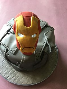 Iron man themed cake.