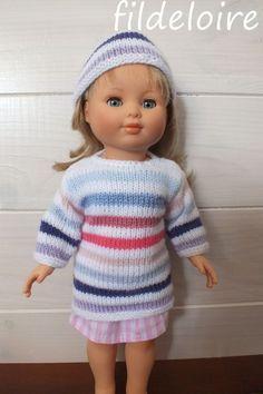 tuto pull tricoté pour la poupée Marie-Françoise de 40 cm