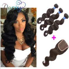 Find More Human Hair Weft with Closure Information about Human Hair Extensions Brizilian Virgin Hair Unprocessed Body Wave 3bundles With 1PC Lace Closure 4x4 Part 100% Human Hair Weave,High Quality hair weave india,China hair weave kit Suppliers, Cheap weave bow from HLSK Queen Hair Products Co., Ltd on Aliexpress.com