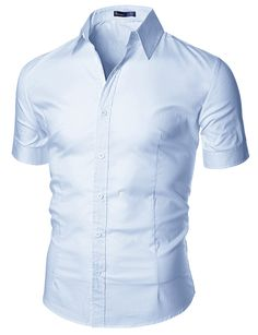$23.99 Mens Wrinkle Free Short Sleeve Dress Shirts (113DS)