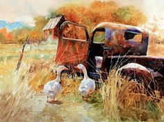 Carl Purcell. #aquarela