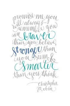 Christopher Robin. Love the lettering.