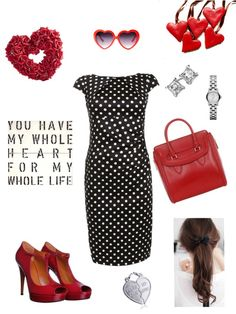 """Happy Valentine's Day!"" by quesarasara ❤ liked on Polyvore"