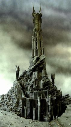 Barad Dur, the Dark Tower, was built by Sauron. Its construction started in Second Age and took 600 years to be completed. It was the greatest fortress to ever exist in Middle Earth, apart from. Tolkien, Fellowship Of The Ring, Lord Of The Rings, Barad Dur, Films Western, Lord Sauron, John Howe, The Dark Tower, Middle Earth