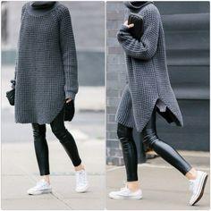 So kann man einen schicken Longpullover tragen - 60 Outfits Mehr