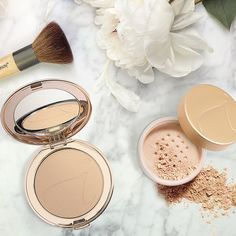 Beauty Tip: If you're looking for a semi-matte look, opt for a pressed powder…