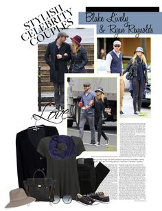 """Fashion Couple -Blake Lively & Ryan Reynolds"" by sofiasolfieri ❤ liked on Polyvore"