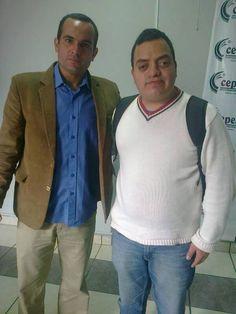 "Freddie Armando Romero y periodista deportivo Jorge ""Coki"" Gonzales. (2013)"