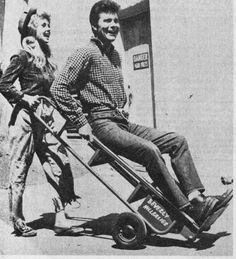 Donna Douglas and Max Baer, Jr. playing around on the set of the Beverly Hillbillies - 1963