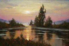 Sunset by Russian artist, Stepan Nesterchuk (1978)