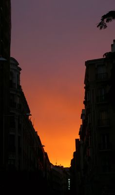 Madrid at twilight.