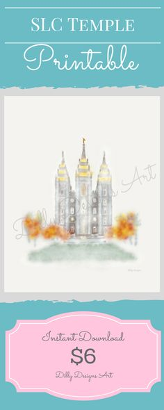 This SLC Temple was my first temple I ever drew- and it is still my favorite! (Not to mention it's the temple I got sealed in!) I love the coloring of the trees, the hazy dream-like feel, and…