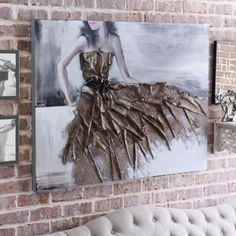 Graceful Dress Canvas Art | art inspiration