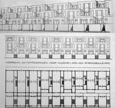 "(1917) Design of ""Strandboulevard"" in Scheveningen - J.J.P. Oud"
