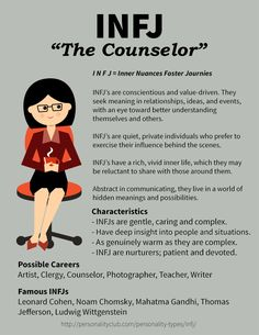 Profile of INFJ Personality - The Counselor