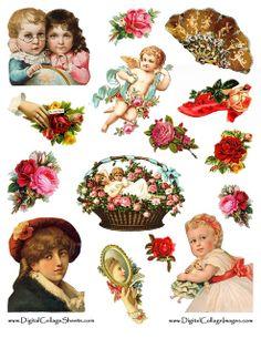 Victorian Scraps Free Collage Sheet | Flickr - Photo Sharing!
