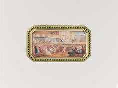 """Joseph Étienne Blerzy (French, active 1750–1806). Snuffbox with theatrical scenes of a rope dancer and a puppet show, 1778–79. The Metropolitan Museum of Art, New York. Gift of J. Pierpont Morgan, 1917 (17.190.1130) 