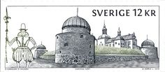 Sello: Swedish Castles & Palaces - Vadstena Slott (Suecia) (Architecture (Classical)) Mi:SE 2739