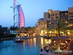 The Burj al Arab from Madinat Jumeirah, Dubai, U.A.E.