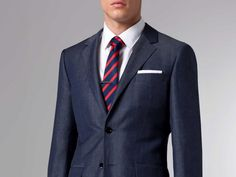 The Ultimate Tonal Slate Linen & Wool Suit 1 $429 @ indochino