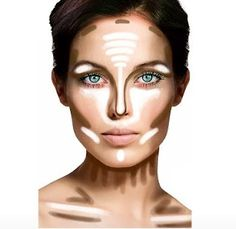 Another easy pic on how to contour and highlight your face, my oily skin would skip the highlighter on the forehead though!