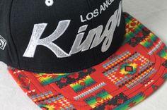 LA Kings Aztec customized snapback hat. streetwear men's