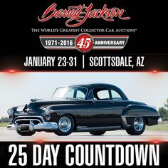 This beautiful 1950 88 Futuramic may look stock from the outside, but extensive modifications have taken it to a whole different level. Just one example: the GM 502 under the hood kicks out at rpm and 597 ft/lbs of torque at rpm. Oldsmobile 88, Day Countdown, Barrett Jackson Auction, Collector Cars, The World's Greatest, Kicks, Beautiful, Men, Cutaway