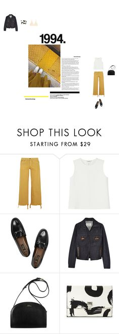 """""""daddy lessons - beyonce"""" by aimable ❤ liked on Polyvore featuring Simon Miller, Monki, Gucci, Acne Studios, A.P.C., Proenza Schouler and Base Range"""