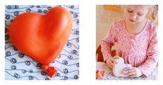 Plaster Balloon Heart Sculptures with Kids