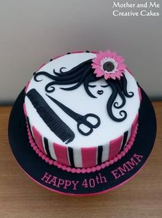 Hairdresser's Cake - Cake by Mother and Me Creative Cakes