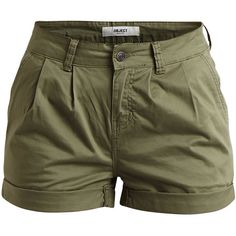 Object Collectors Item Objnor - Shorts ($30) ❤ liked on Polyvore featuring shorts, bottoms, pants, short, deep lichen green, tall shorts, short shorts, green shorts and cotton shorts
