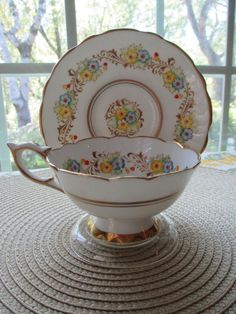 Antique Royal Stafford Bone China Tea Cup & by aprilleialoha