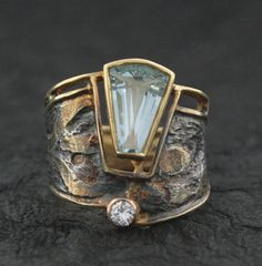 Brazilian Aquamarine and Diamond