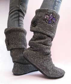 Keep your toes warm with a new pair of boots from a sweater.  Find out more at Instructables