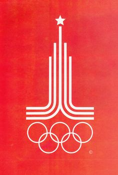 Moscow Olympics 1980 (Russia saying size does matter ; Badge Design, Logo Design, Flyer Design, Olympic Logo, Retro Logos, Logo Color, Typography Logo, Graphic Design Inspiration, Moscow