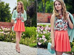 Coctail Shock Skirt, H Blazer, Atmosphere Top, Mohito Bag, Mango Heels