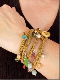 ☮ Hippie bracelet tutorial by Cozy Things ☮