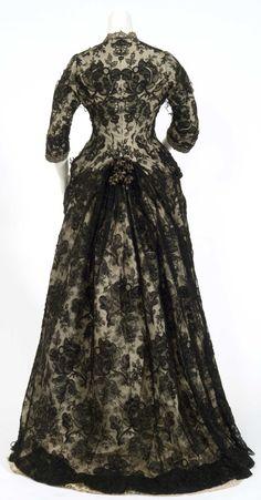Ephemeral Elegance - 1876 Mahala Pillsbury gown, back