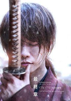Teaser poster for Rurouni Kenshin: The Final/The Beginning One Ok Rock, Rurouni Kenshin Movie, Kenshin Anime, Yu Aoi, Live Action Film, Action Movies, Kenshin Le Vagabond, Emi Takei, Takeru Sato