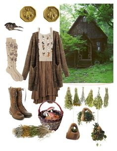 """Mori Witch 1"" by willowmwise on Polyvore featuring Dot & Bo, Zeha Berlin, Alex Monroe and Slane"
