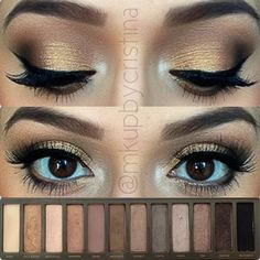 ✨Step-by-Step Makeup  1. Prime the eye with Urban Decay primer potion 2. Apply a light concealer just under the brow to intensify the highlight  3. On top of the concealer pat the color 'Bootycall'  4. Blend 'Hazelnut' eyeshadow by Mary Kay above the crease 5. Take 'Busted' and pat that on the outer corner slightly blending into the crease  6. Add a little bit of 'Blackout' on top of Busted to add dimension and a little bit of smokiness to the look